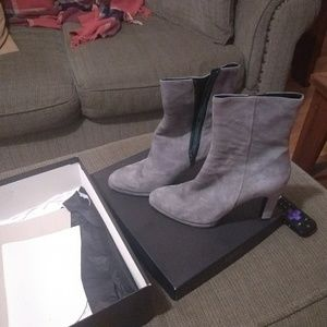 Barney's Velour grey boots